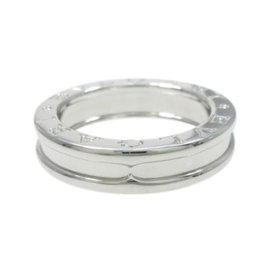 Bulgari B. Zero 1 18K White Gold Band Ring Size 4.5