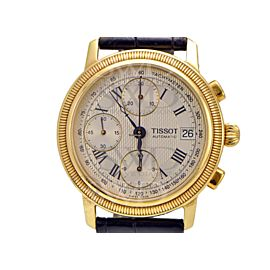 Tissot Bridgeport T71343533 18K Yellow Gold / Leather 36mm Mens Watch