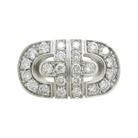 Bulgari 18K White Gold Diamond Parentesi Ring Size 5