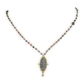 Zina Silver & Emerald, Ruby, Tanzanite, Tourmaline, Citrine, Jade, Quartz & White Topaz Short Necklace