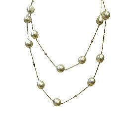Mikimoto 18K White Gold South Sea Pearl & 0.21ct. Diamond Necklace