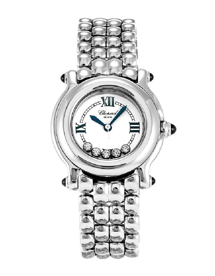 """Image of """"Chopard Happy Sport 27/8250-23 Stainless Steel & Diamond 26mm Womens"""""""