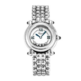 Chopard Happy Sport 27/8250-23 Stainless Steel & Diamond 26mm Womens Watch