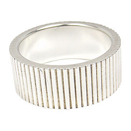 Tiffany & Co. 925 Sterling Silver Coin Edge Wide Band Ring Size 6.5