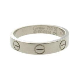 Cartier Mini Love 18K White Gold Ring Size 5.25