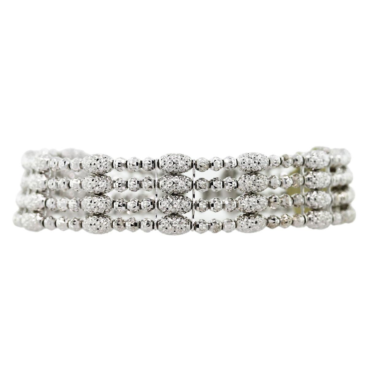 "Image of ""Officina Bernardi Sterling Silver Alloyed With Platinum Bracelet"""