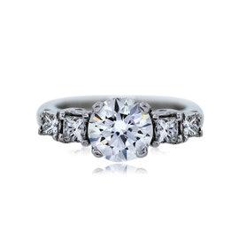 18K White Gold 2.05ct Diamond Engagement Ring Size 6.75