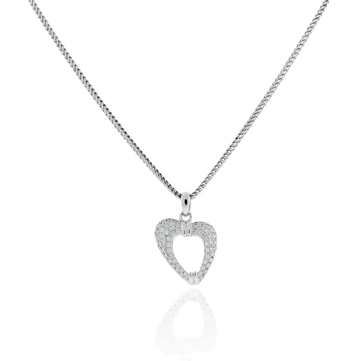 "Image of ""Di Modolo 18K White Gold & 0.75ct. Diamond Heart Pendant Necklace"""