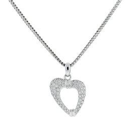 Di Modolo 18K White Gold Heart Pendant Necklace