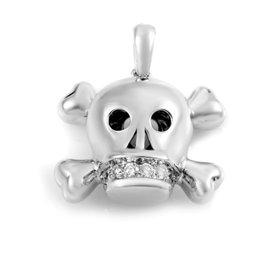 Dior Tete de Mort 18K White Gold Diamond Pendant