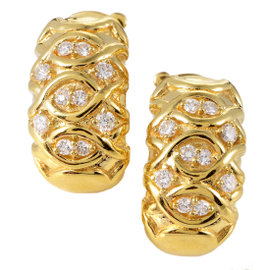 Dior 18K Yellow Gold Diamond Clip-on Earrings