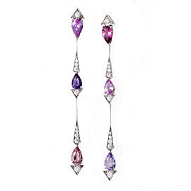 Dior 18K White Gold 0.54ct Diamond & Multi-Gemstone d'Été Drop Earrings