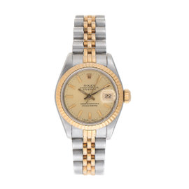 Rolex Datejust 69173 18k Two Tone 26 mm Ladies Watch