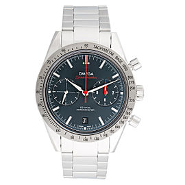 Omega Speedmaster 33110425103001 Chronograph Blue Dial Stainless Steel 41.5mm Mens Watch
