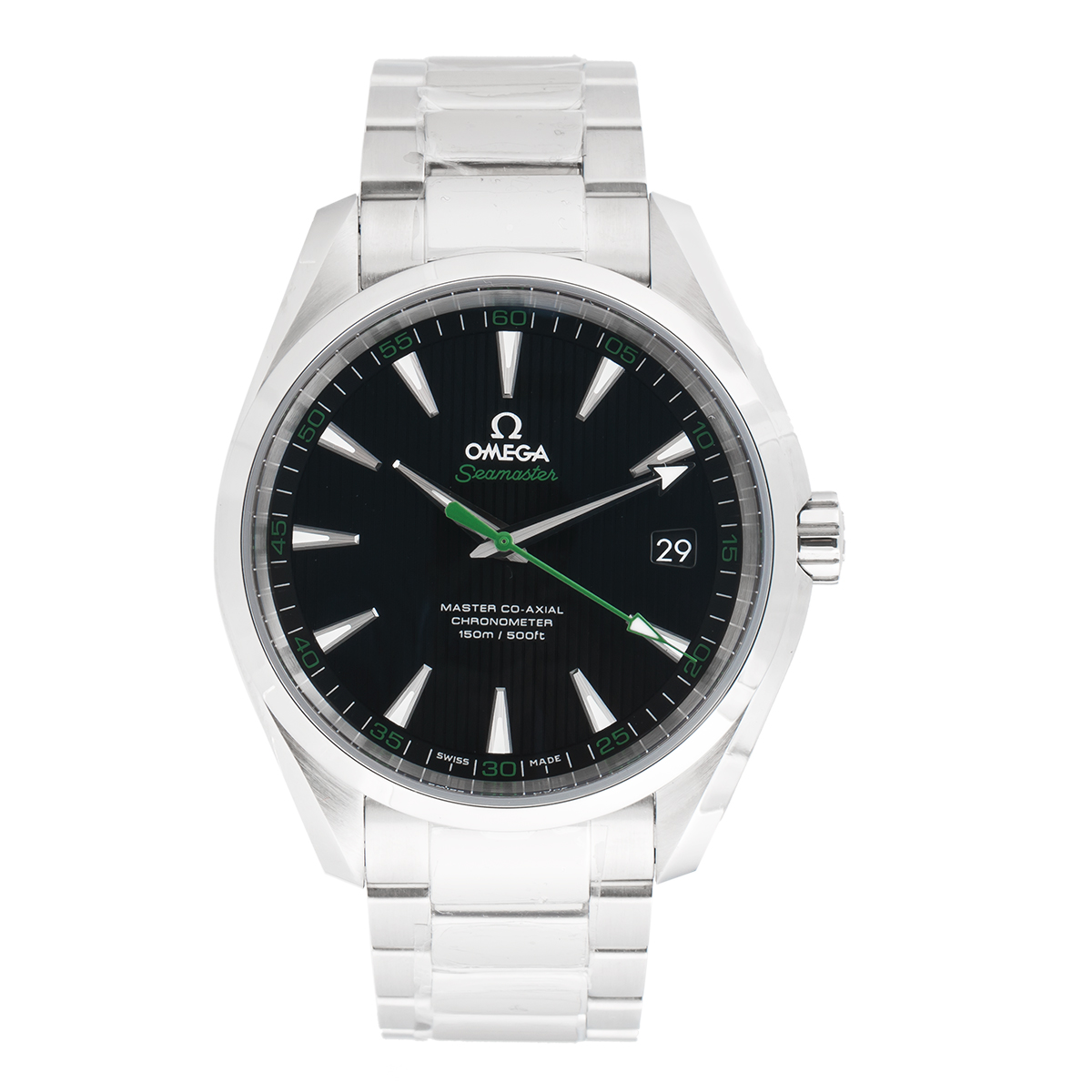 omega seamaster aqua terra stainless steel 415mm mens watch