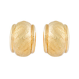 Tiffany & Co. 18K Yellow Gold Half Moon Earrings