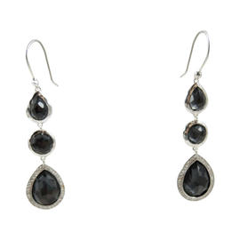 Ippolita Sterling Silver Hematite and Diamond Stella Drop Earrings