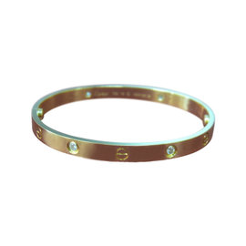 Cartier Love Bracelet R/G 4 Dia Size 19