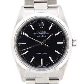 Rolex Air King 14000M 34mm Stainless Steel Black Dial Watch