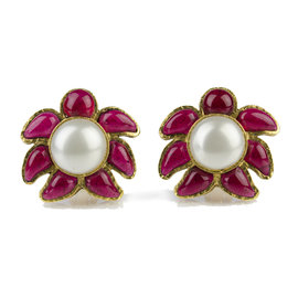 Chanel 94P Gripoix Pearl Earrings