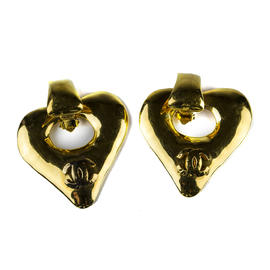 Chanel 93P Heart Earrings