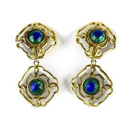 Chanel Gold Dangling Earrings