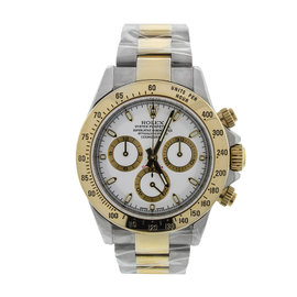 Rolex Daytona Two Tone White Dial Watch