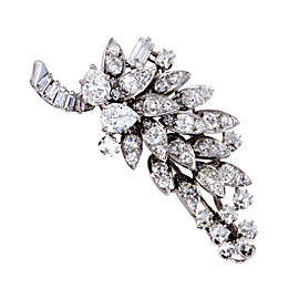 David Webb Platinum & 5.50ct Diamond Cluster Brooch