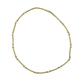 David Yurman 18K Yellow Gold Cable Pearls Choker Necklace