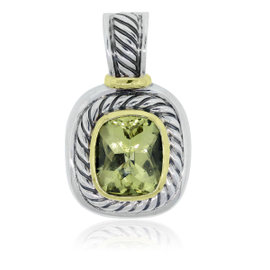 David Yurman Two Tone Lemon Citrine Pendant
