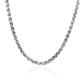 David Yurman Sterling Silver 6mm Wheat Chain Necklace