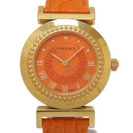 Versace Vanity P5Q Gold Plated Quartz 38mm Womens Watch