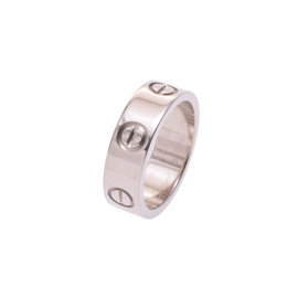 Cartier Love 18K White Gold Ring Size 4.5