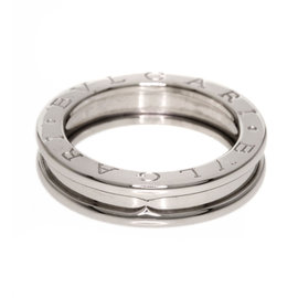 Bulgari 18K White Gold B-zero Ring Size 5