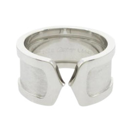 Cartier 18K White Gold Large Ring Size 5.25