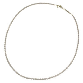 Mikimoto 18K Yellow Gold Fresh Water Pearl Necklace