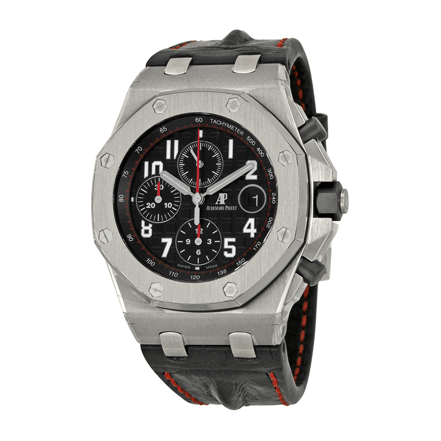 "Image of ""Audemars Piguet Royal Oak Offshore Stainless Steel & Leather 42mm"""