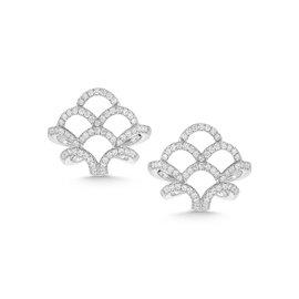 Scalloped Diamond Cage Earrings