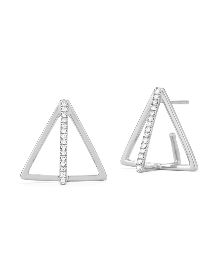 "Image of ""Cutout Pyramid Earrings"""