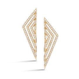 Linear Diamond Triangle Earrings