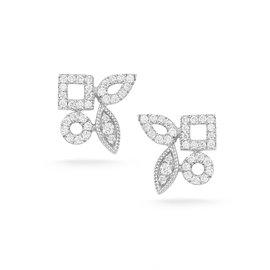 Cutout Diamond Cluster Studs