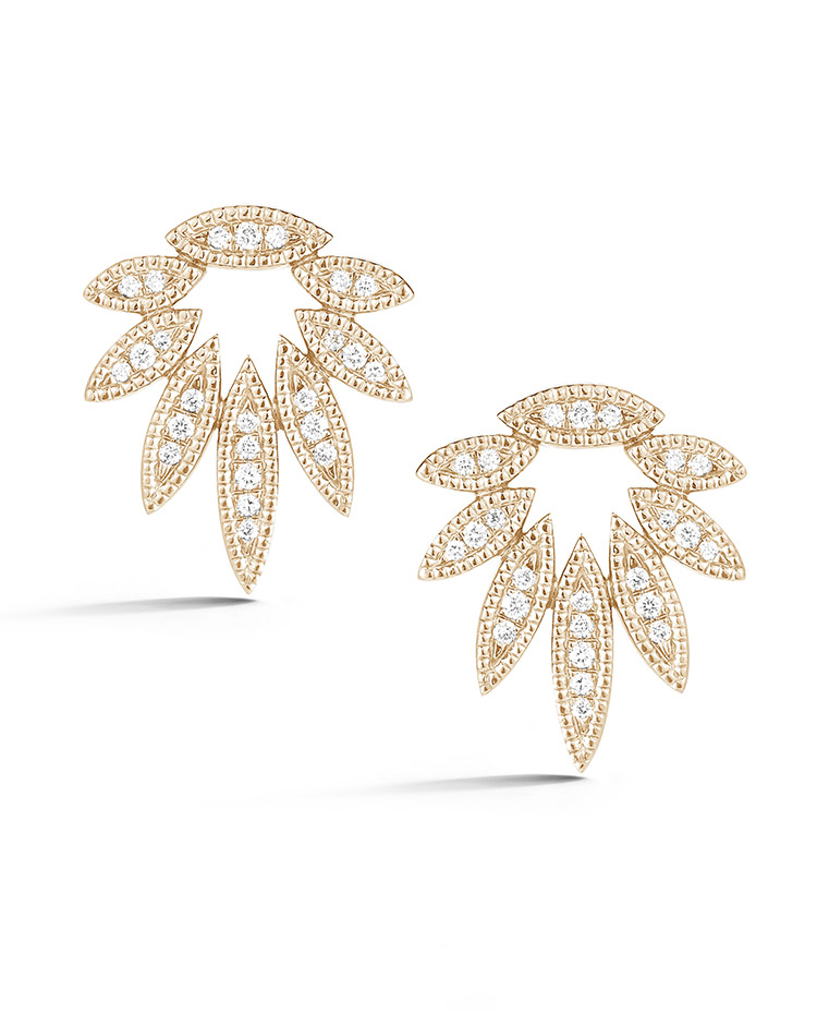 "Image of ""Cutout Marquise Diamond Studs"""