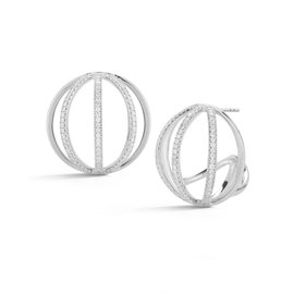 Cutout Globe Earrings