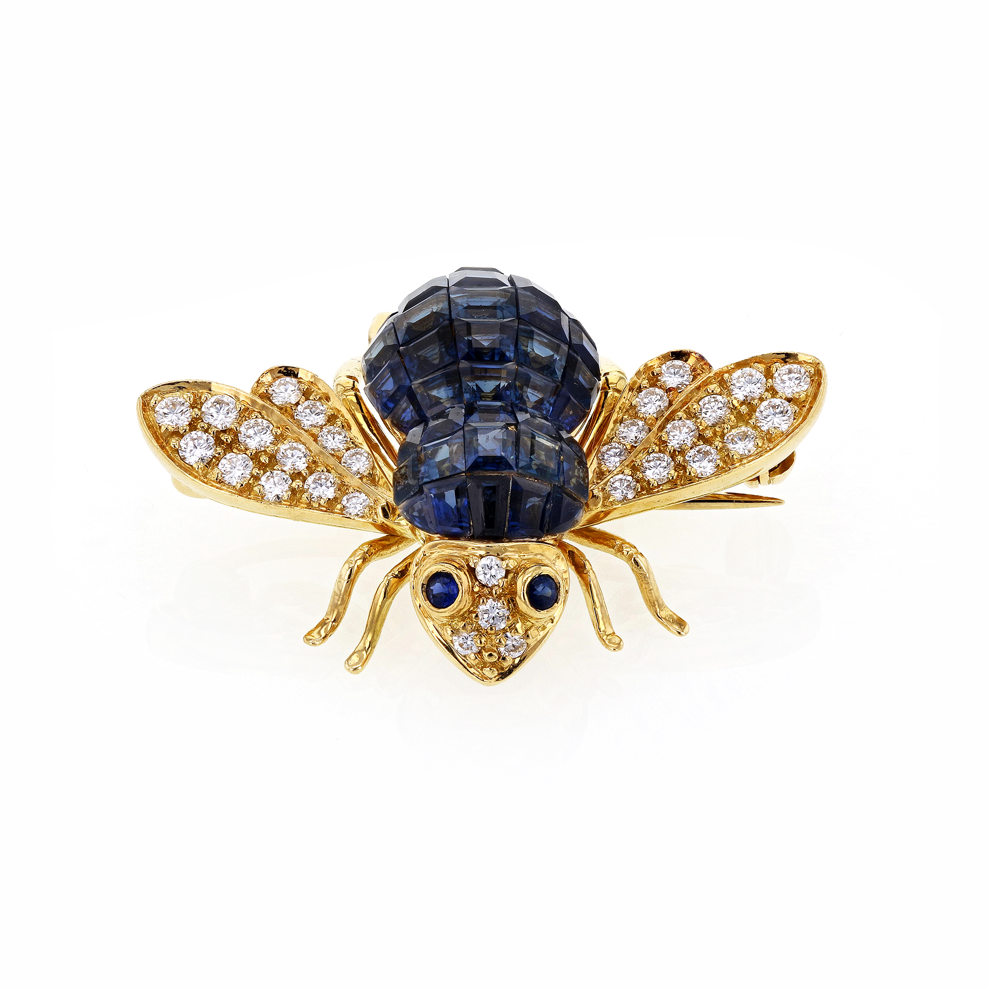 "Image of ""Sabbadini Gioielli 18K Yellow Gold with Blue Sapphires and White"""