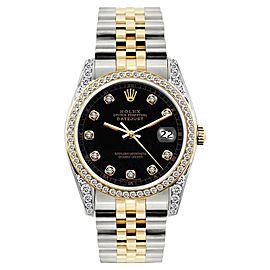 Rolex Datejust Stainless Steel & 18K Yellow Gold Diamond 36mm Watch
