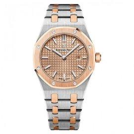 Audemars Piguet Royal Oak 67650SR.OO.1261SR.01 Stainless Steel & 18K Pink Gold 33mm Womens Watch