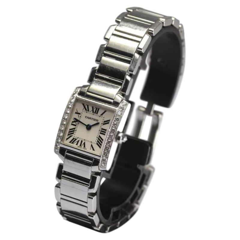 """Image of """"Cartier Francaise Stainless Steel Quartz 20mm Womens Watch"""""""