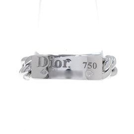 Christian Dior 18K White Gold Ring Size 5.25