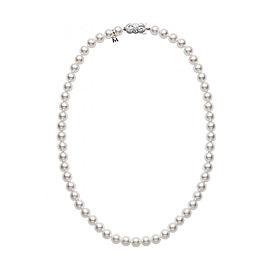 Mikimoto 18K White Gold Akoya Pearls Necklace