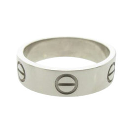 Cartier Love 18K White Gold Ring Size 6.25